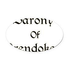 Barony of Brendoken Black/Gold Oval Car Magnet