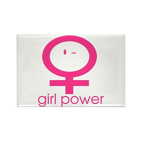Girl Power Wink Rectangle Magnet