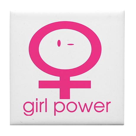 Girl Power Wink Tile Coaster