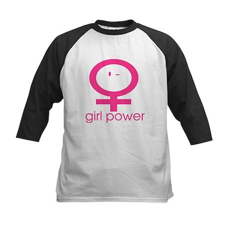 Girl Power Wink Kids Baseball Jersey