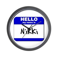 hello my name is nikki  Wall Clock