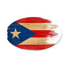 Puerto Rican Flag Oval Car Magnet