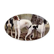 Sighthound Serving Tray Oval Car Magnet