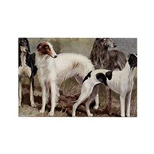Sighthound Serving Tray Rectangle Magnet