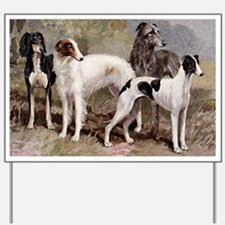 Sighthound Serving Tray Yard Sign