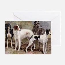 Sighthound Serving Tray Greeting Card