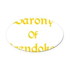 Barony of Brendoken Yellow/Gold Oval Car Magnet