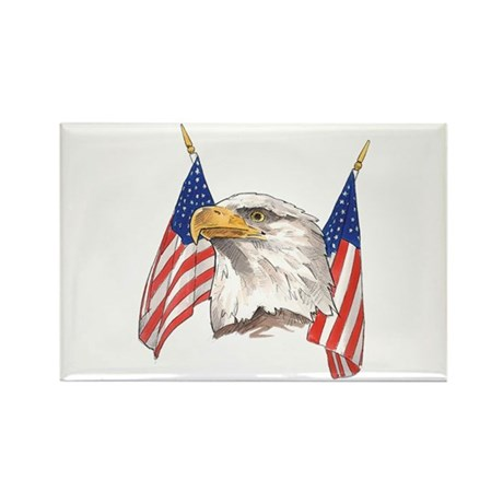 American Eagle Rectangle Magnet