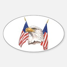 American Eagle Oval Decal