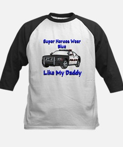 Super Heroes Like Daddy Baseball Jersey