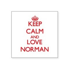 Keep calm and love Norman Sticker