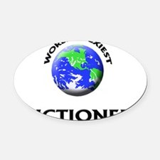 World's Sexiest Auctioneer Oval Car Magnet