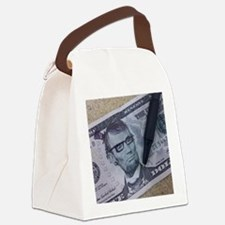 Hipster Lincoln Canvas Lunch Bag
