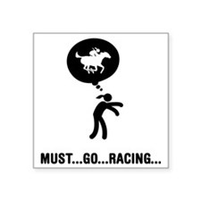 "Horse-Racing-A Square Sticker 3"" x 3"""