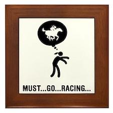 Horse-Racing-A Framed Tile