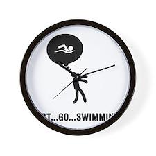 Swimming-C Wall Clock