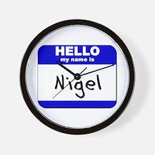 hello my name is nigel  Wall Clock