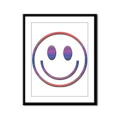Pretty Smiley Face Framed Panel Print