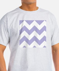 Mauve and White Chevron Pattern T-Shirt