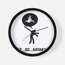 Kayaking-A Wall Clock