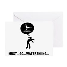 Waterskiing-A Greeting Card