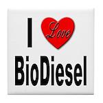 I Love BioDiesel Tile Coaster
