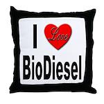 I Love BioDiesel Throw Pillow