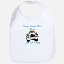 Super Heroes Like Mommy Bib