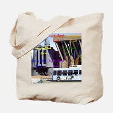 binocs and a bus beach tote b-side Tote Bag