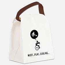 Wheelchair-Curling-A Canvas Lunch Bag