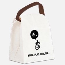 Wheelchair-Curling-C Canvas Lunch Bag