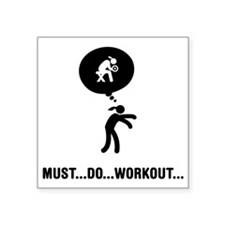 "Workout-A Square Sticker 3"" x 3"""