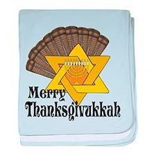 Merry Thanksgivukkah baby blanket