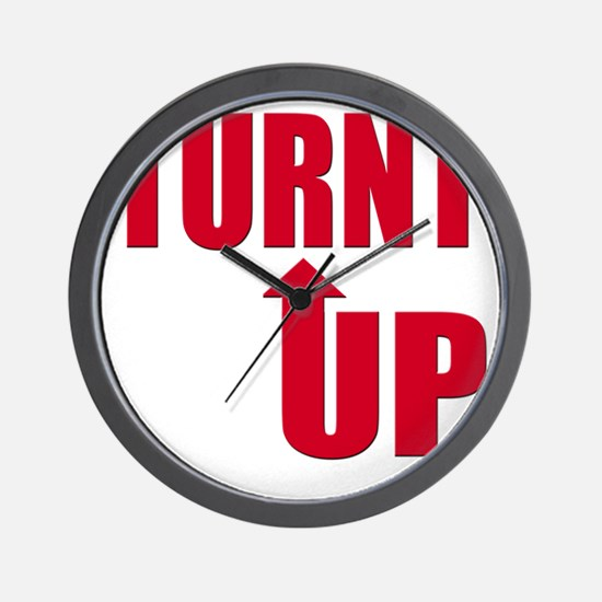 Turnt Up Wall Clock