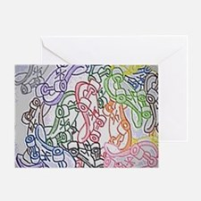 LAX skateboards by bjork all over me Greeting Card