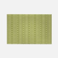 Olive Green Aztec Tribal Pattern Rectangle Magnet
