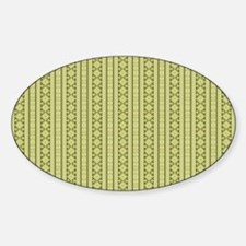 Olive Green Aztec Tribal Pattern Decal