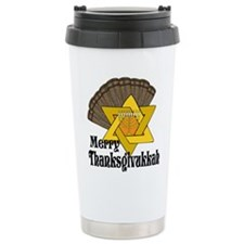 Merry Thanksgivukkah Travel Mug