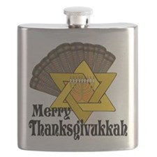 Merry Thanksgivukkah Flask