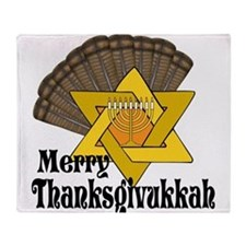 Merry Thanksgivukkah Throw Blanket