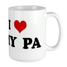 I Love MY PA Mugs