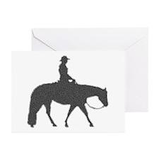 Western pleasure pixels Greeting Cards (Package of