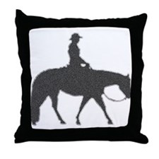 Western pleasure pixels Throw Pillow