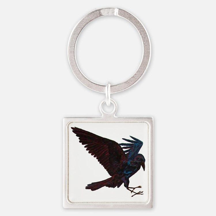 Odin's Raven Square Keychain