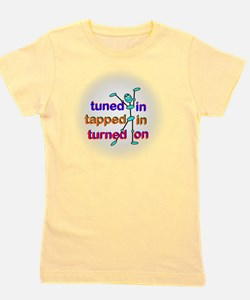 Tuned In Tapped In Turnned On Gradient Girl's Tee