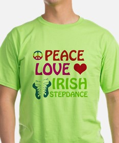 Peace Love Irish Stepdance T-Shirt