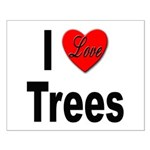 I Love Trees Small Poster