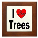 I Love Trees Framed Tile