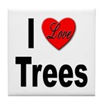 I Love Trees Tile Coaster