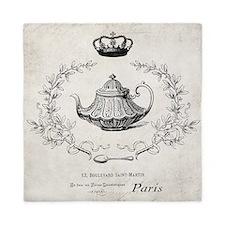 Vintage french teapot Queen Duvet
